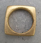 Designer 18ct gold square ring