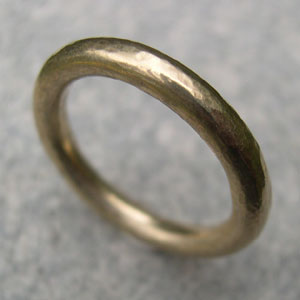 Handmade Yellow Gold Wedding Ring