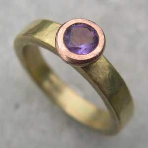 18ct Amethyst engagement band