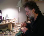 Michael Jefferies in the workshop making a ring
