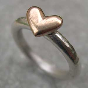 handmade heart ring