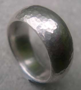 chunky thick silver band handcrafted